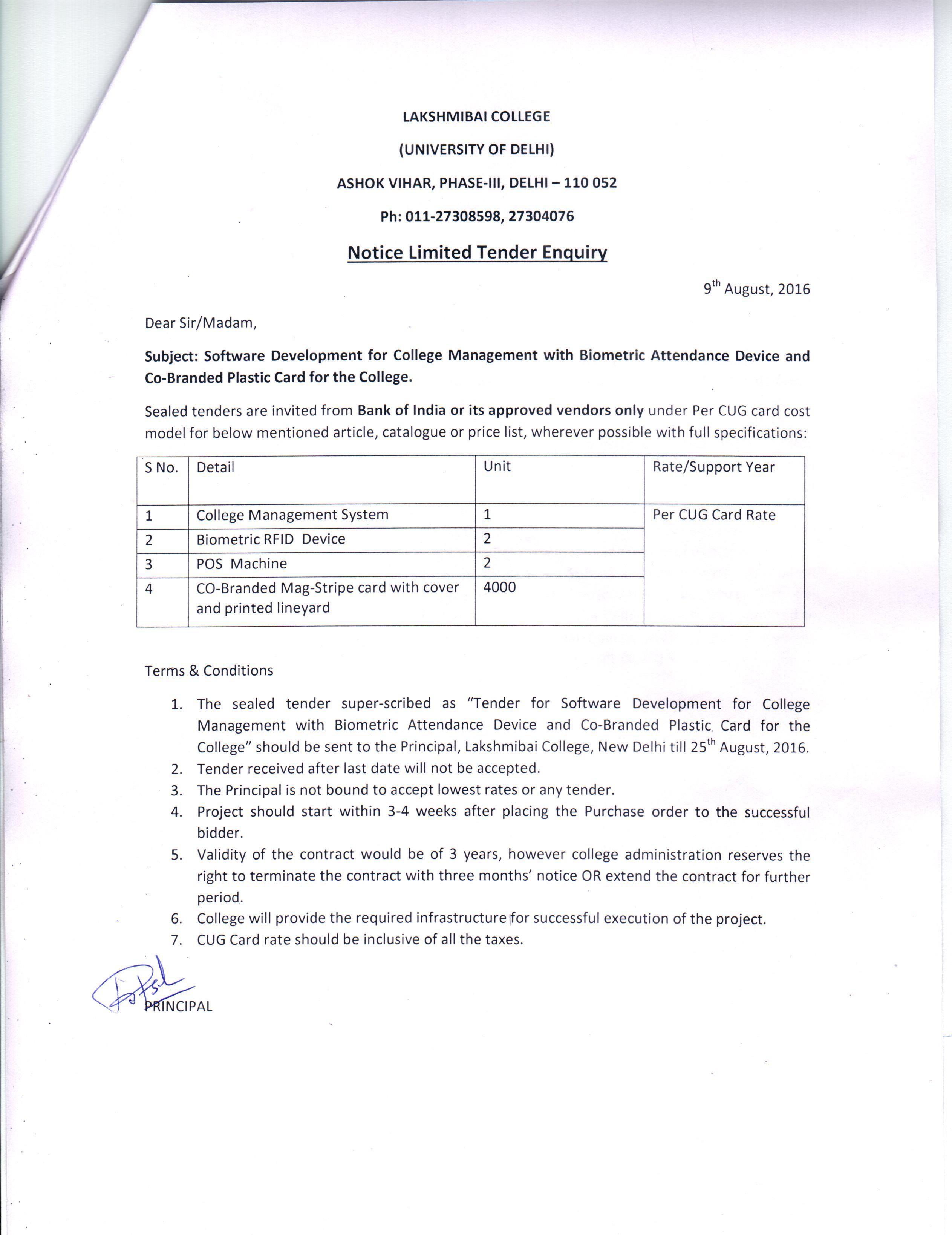 Wel e to Lakshmibai College